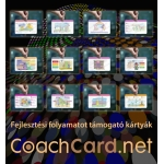 Fejlesztési folyamatot támogató kártyákból 12 fajta, mindegyikből 8-8 darab (96 kártya)