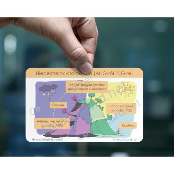 Hiedelmek (ANG-PEG) coach kártya A5-ös méretben (1 darab)