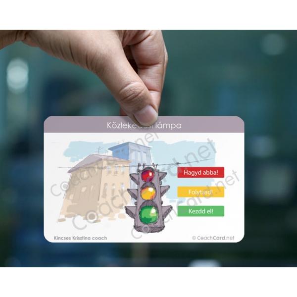 Közlekedési lámpa akciótervezés coach kártya (8 darab)