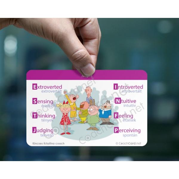 MBTI coach kártya (8 darab)