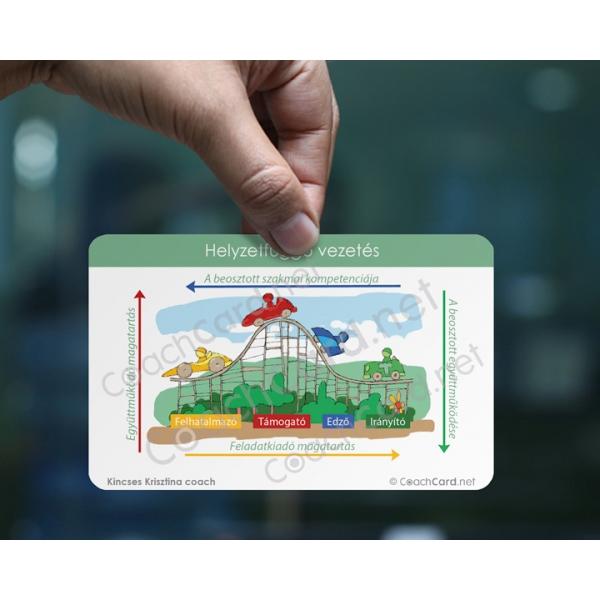 Online Helyzetfüggő vezetés coach kártya (1 darab)