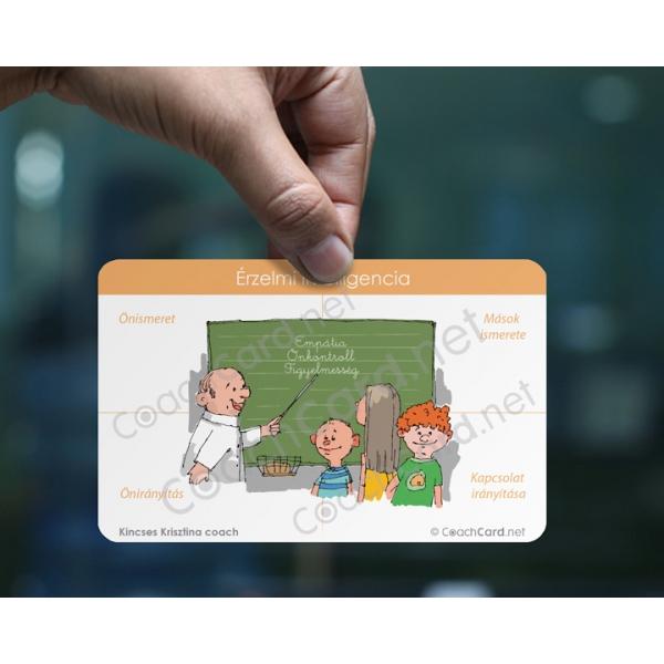 Érzelmi intelligencia coach kártya A5-ös méretben (1 darab)